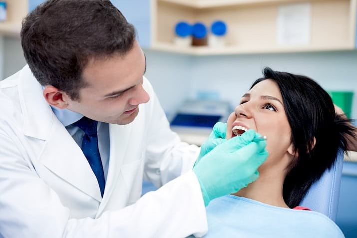 Tooth cavity treatment.